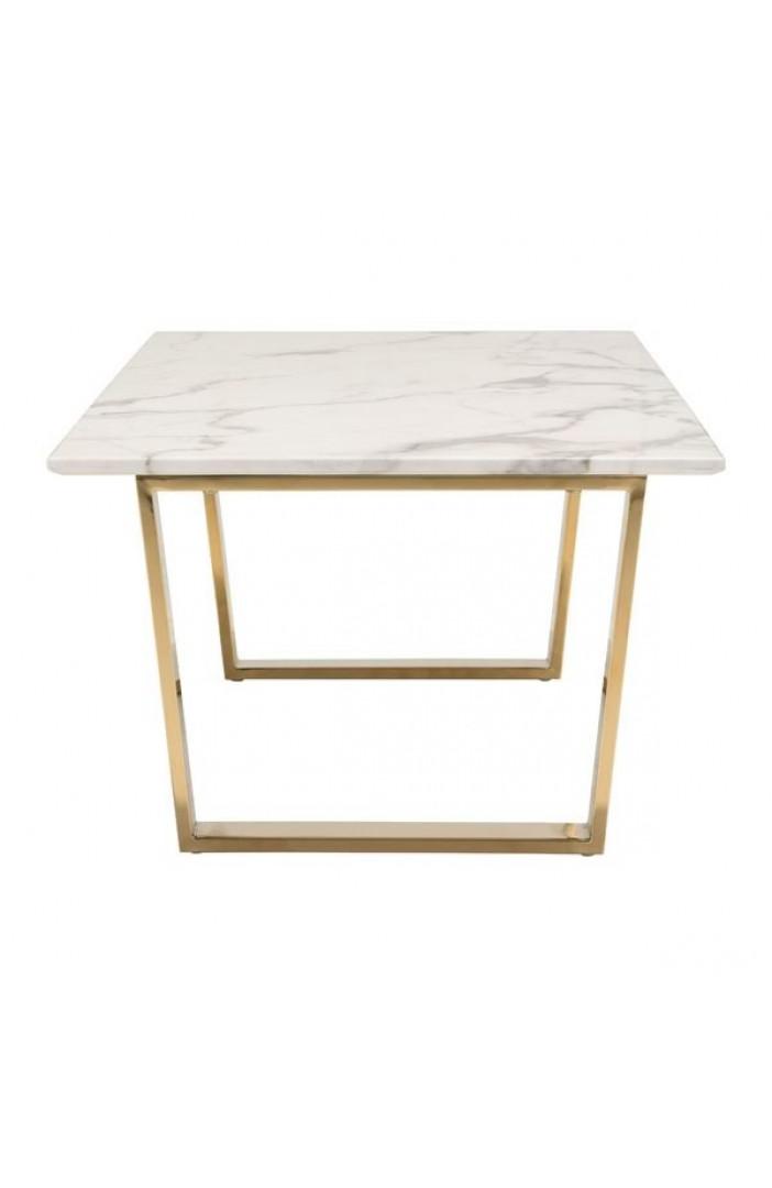 Atlas Coffee Table Stone & Gold
