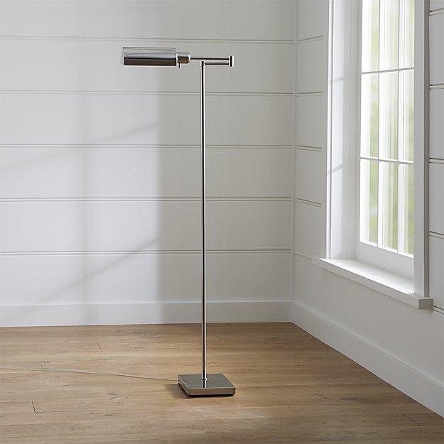 Adams Nickel Pharmacy Floor Lamp- Nickel