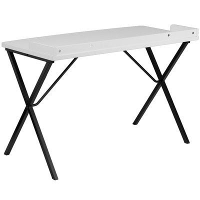 Ledge Writing Desk - White