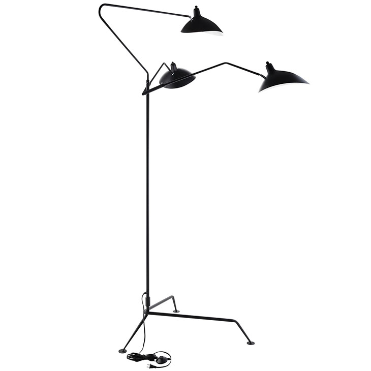 VIEW STAINLESS STEEL FLOOR LAMP IN BLACK