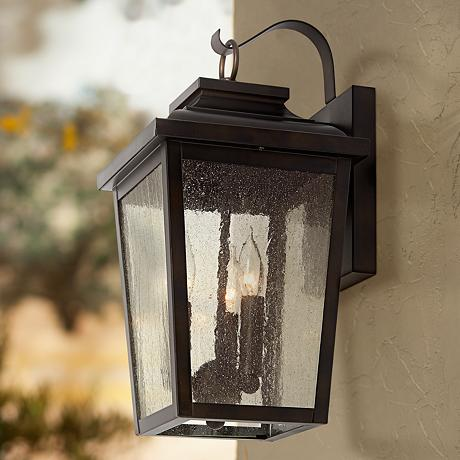 Minka Irvington Manor 16 3 4 High Bronze Outdoor Wall Light Havenly
