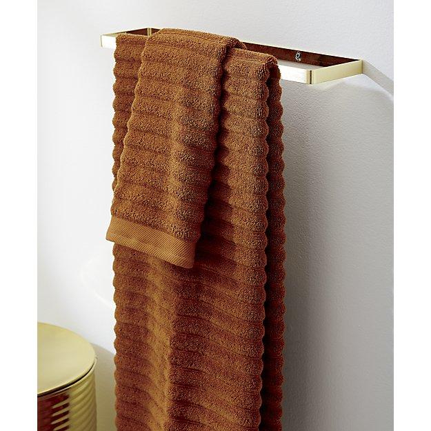 "Brushed brass towel bar 24"""