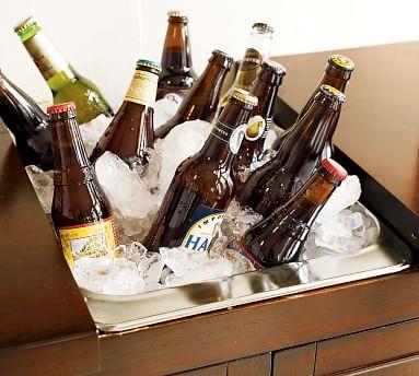 Torrens Bar Cabinet, Mahogany stain