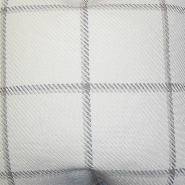 """Wilmie Plaid Pillow Gray White - 20""""x20"""" with Down insert"""