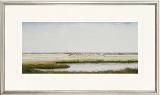 """Marshlands I Wall Art - Set of 2 - 18"""" x 30"""" - Silver Frame with Mat"""