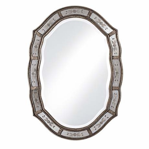Decorative Wall Mirror Lamps Plus : Uttermost fifi etched high wall mirror by lamps