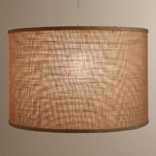 natural burlap drum floor lamp shade by world market. Black Bedroom Furniture Sets. Home Design Ideas