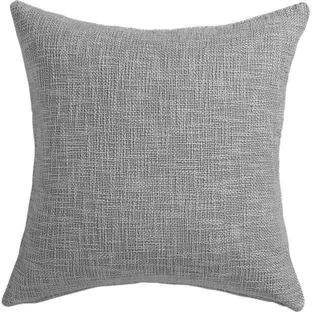 "Glitterati 20"" silver pillow with down-alternative insert"