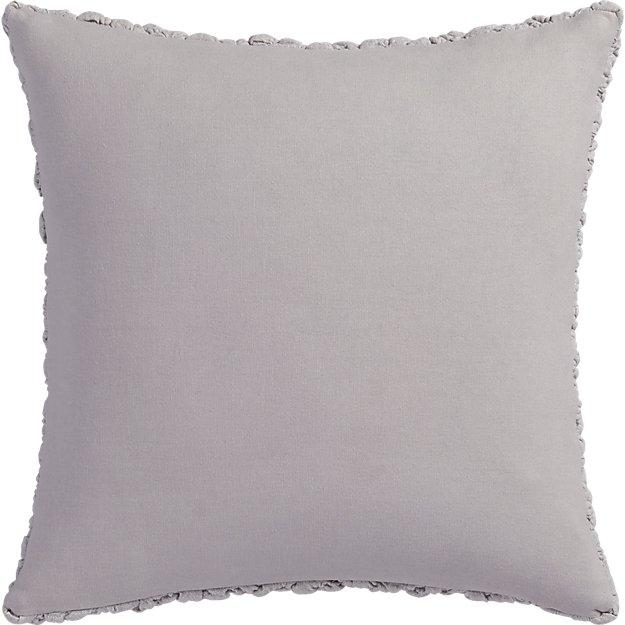 "Gravel light grey 18"" pillow with down-alternative insert"