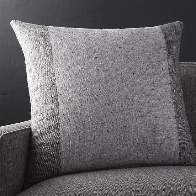 """Avi Graphite 23"""" Pillow with Feather-Down Insert"""
