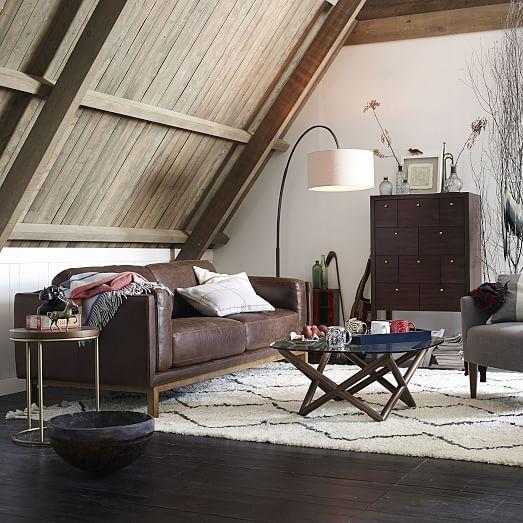 Overarching Floor Lamp - Antique Bronze - White