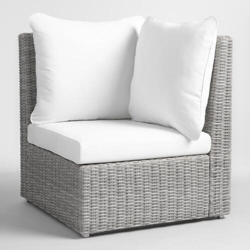 Gray All Weather Wicker Veracruz Sectional Corner Chair
