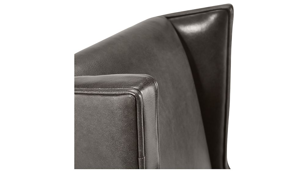 neo leather wingback office chaircrate and barrel | havenly