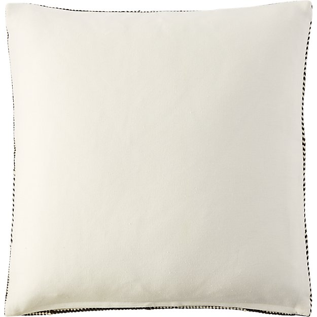 """Bias 23"""" pillow with feather-down insert - Black/White"""