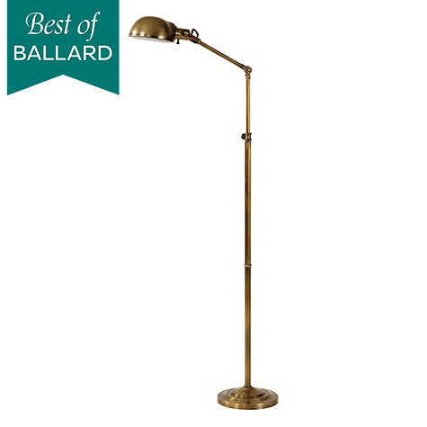 julian apothecary floor lamp antique brass by ballard. Black Bedroom Furniture Sets. Home Design Ideas