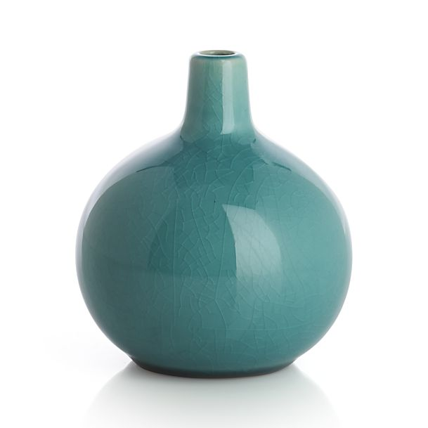 perry short turquoise vase