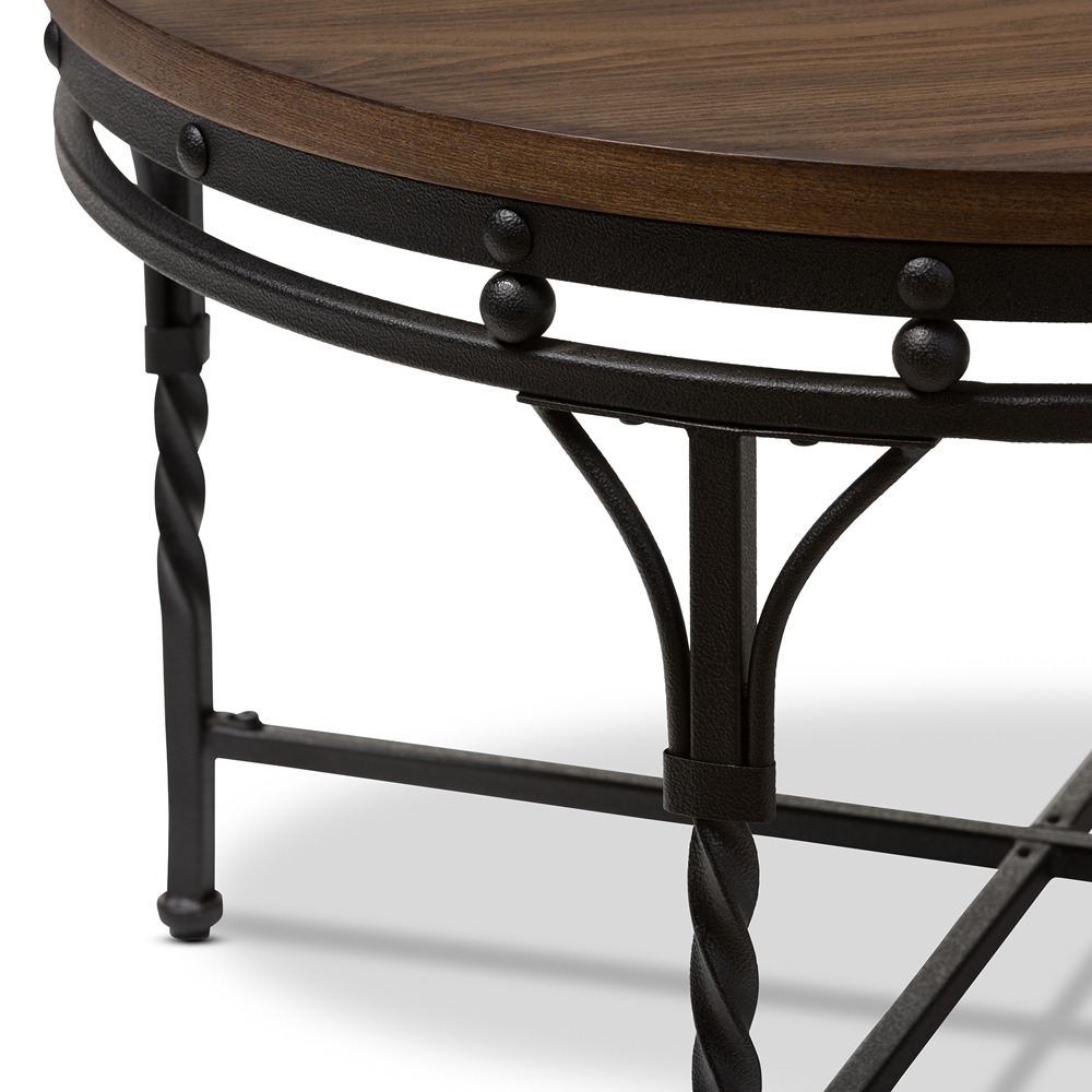 Austin Round Coffee Cocktail Occasional Table