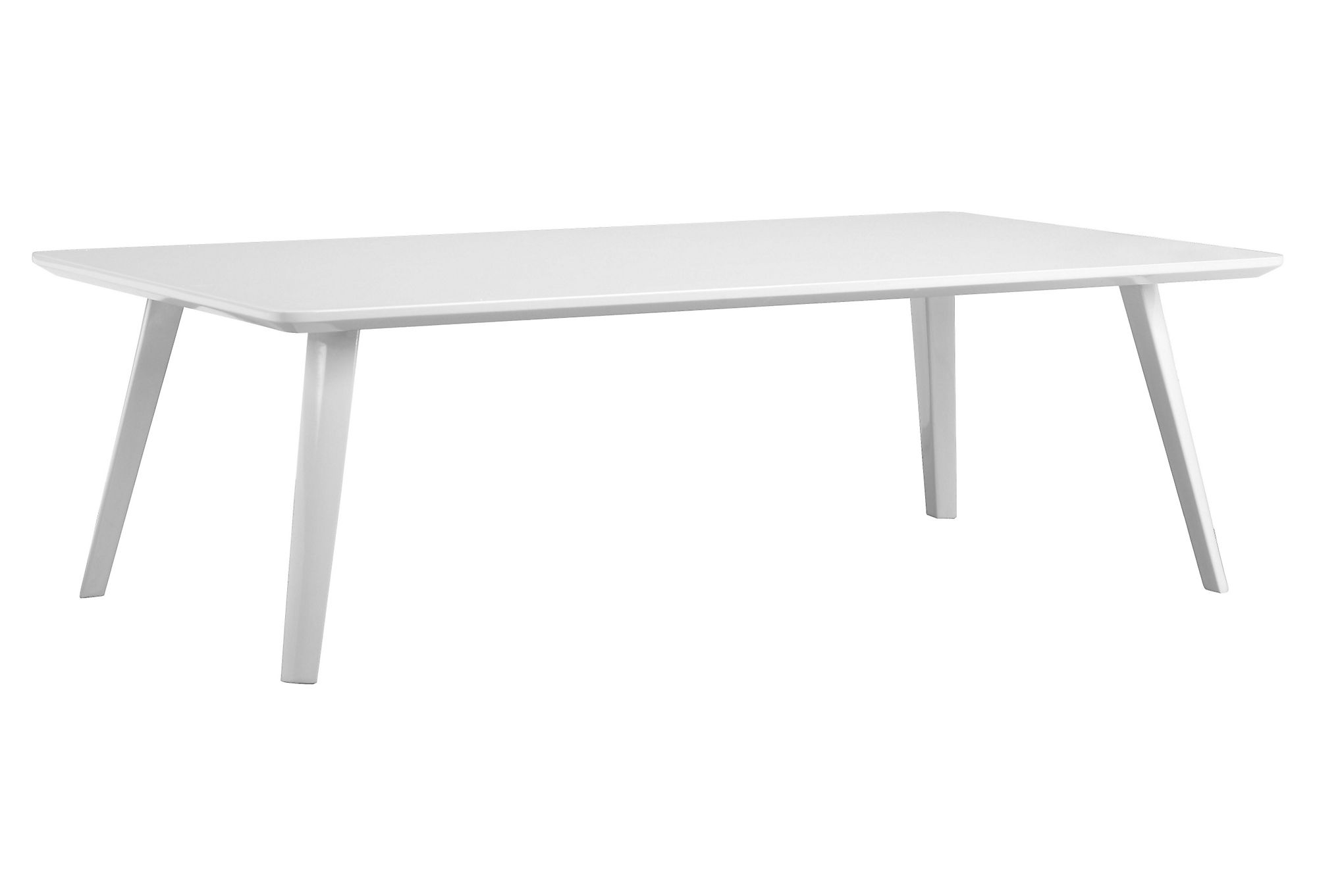 Pangea Hal Modern Coffee Table, Modern, White Lacquer
