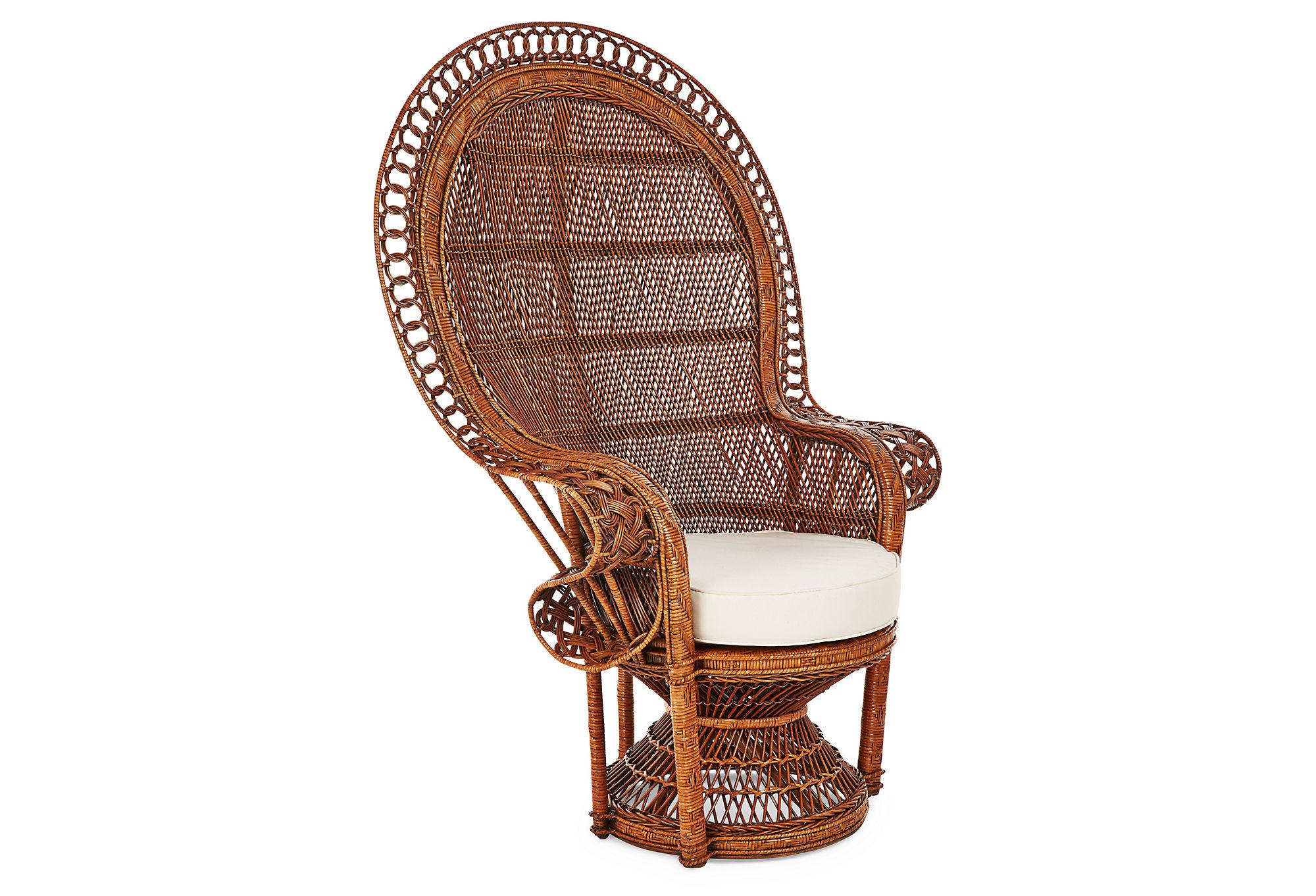 Peacock Chair Elegant Hibiscus by e Kings Lane