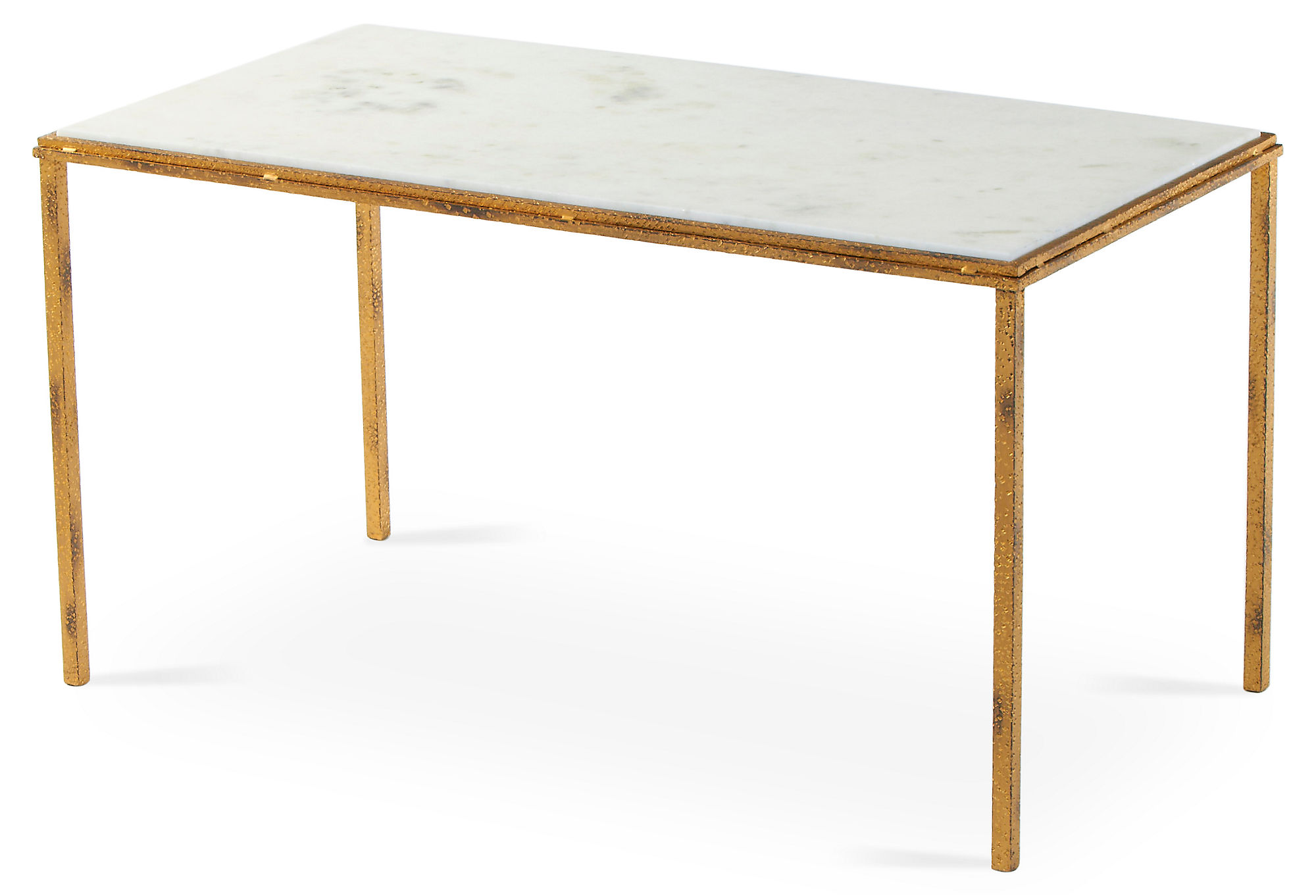 Bridging Ellipse Coffee Table Travertine antique Brass by West