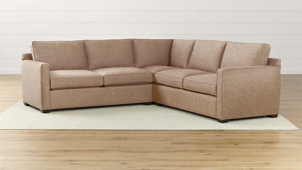 CUSTOM Davis 3-Piece Sectional Sofa - Navy