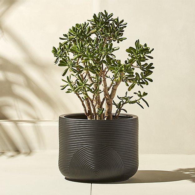 zen small black planter