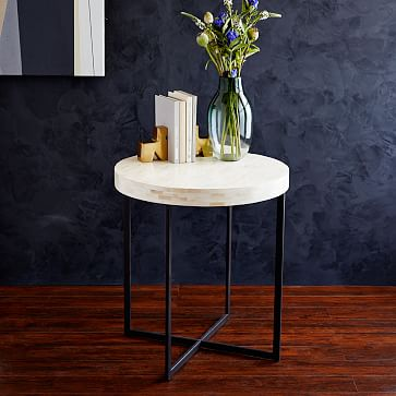 Bone Side Table, Ivory (White Glove Delivery)