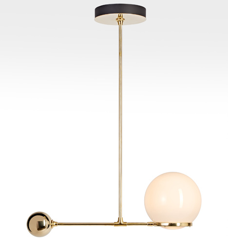 """O&G Contrapesso 8"""" Globe LED Pendant"""