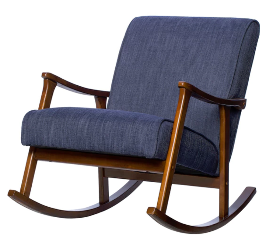 Retro Indigo Rocking Chair