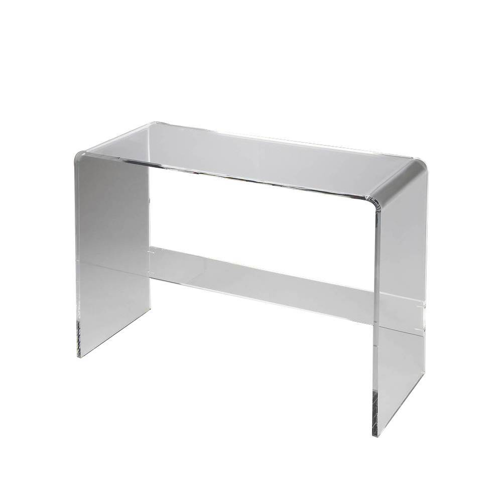 Wheelan waterfall coffee table glass by one kings lane havenly crystal clear acrylic console table geotapseo Gallery