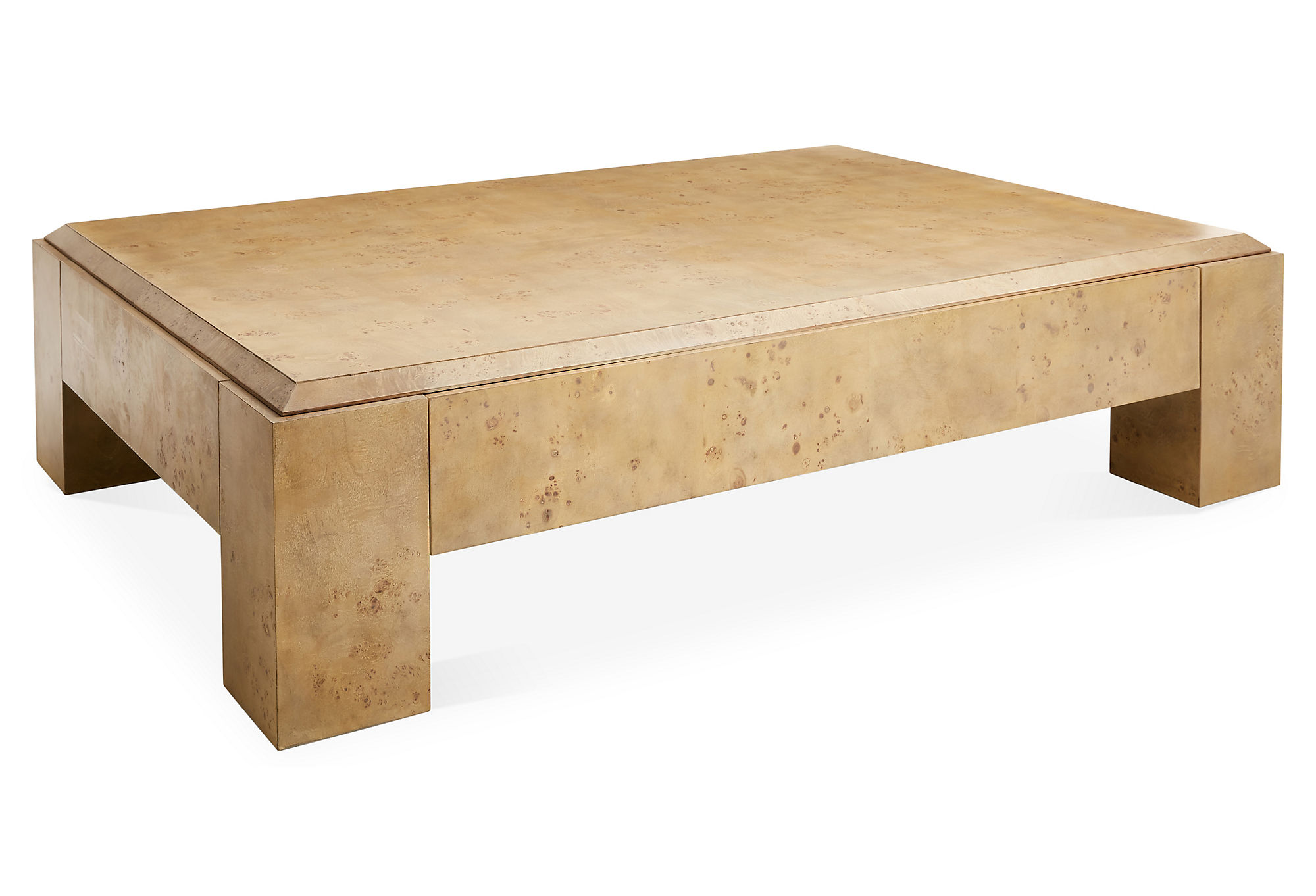 Joni Brass And Wood Coffee Table by CB2