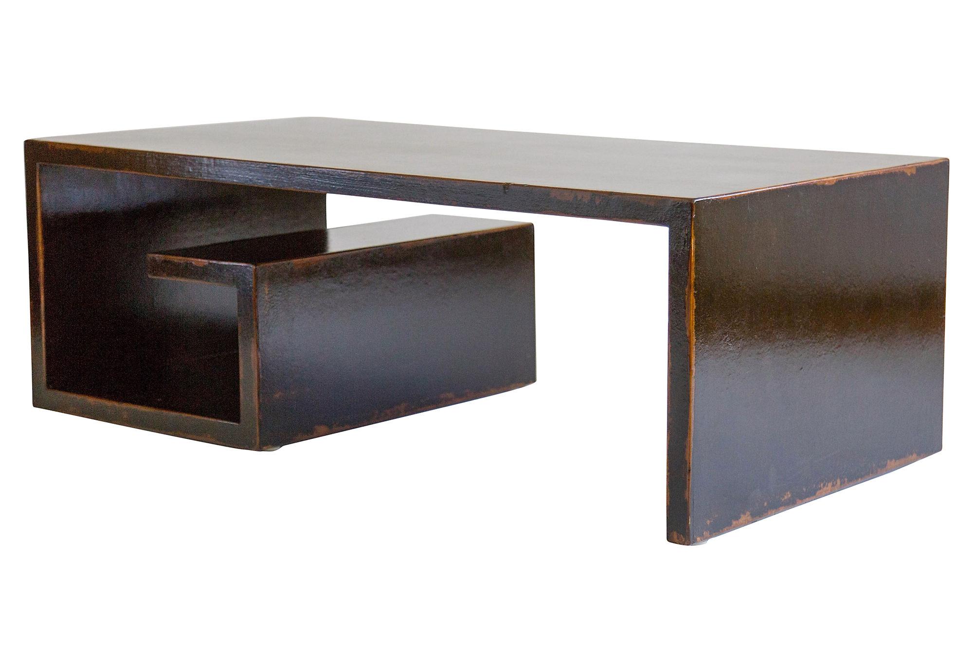 Hayes coffee table by west elm havenly ebony greek key coffee table geotapseo Gallery