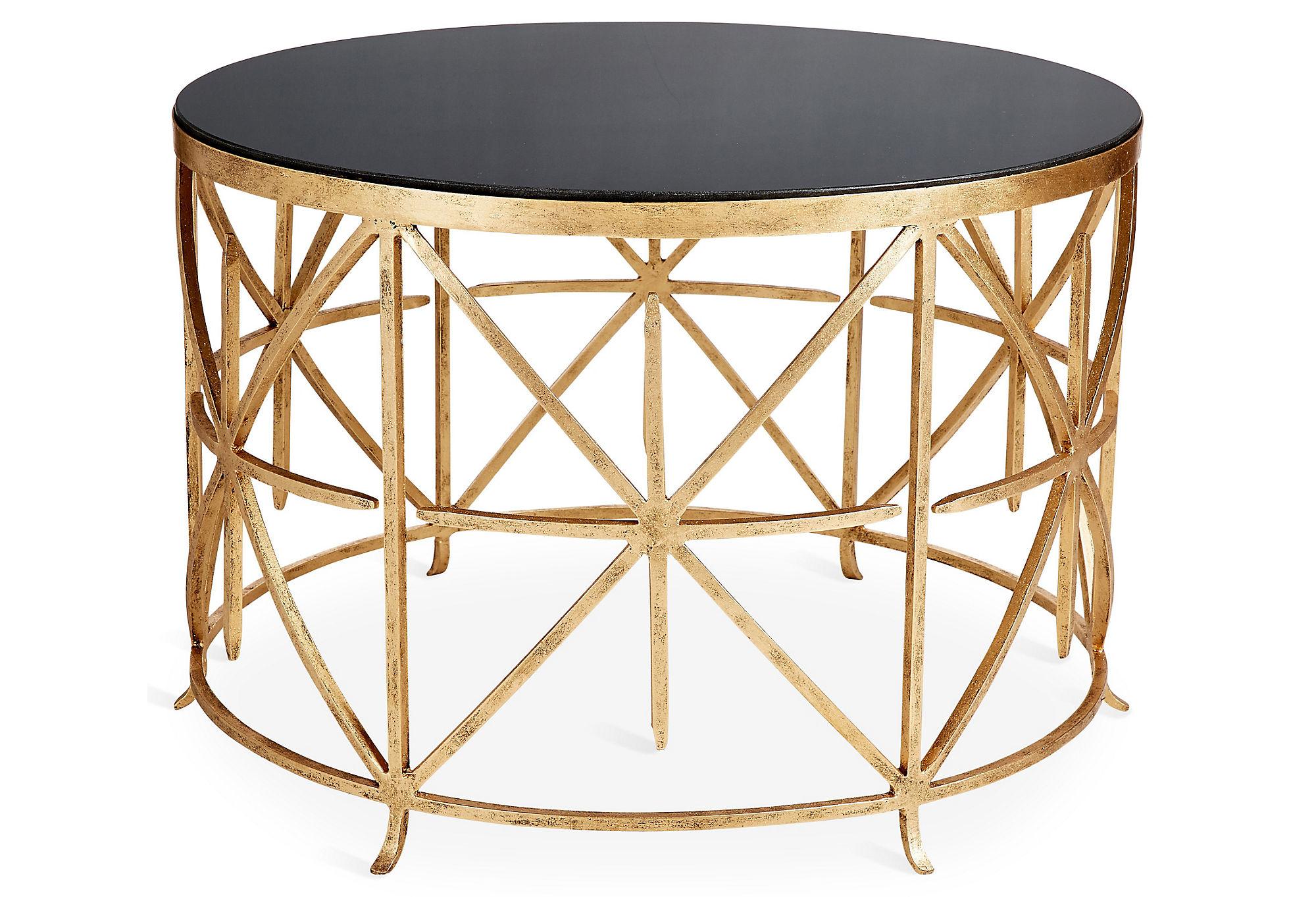 Arcata Round Coffee Table, Gold