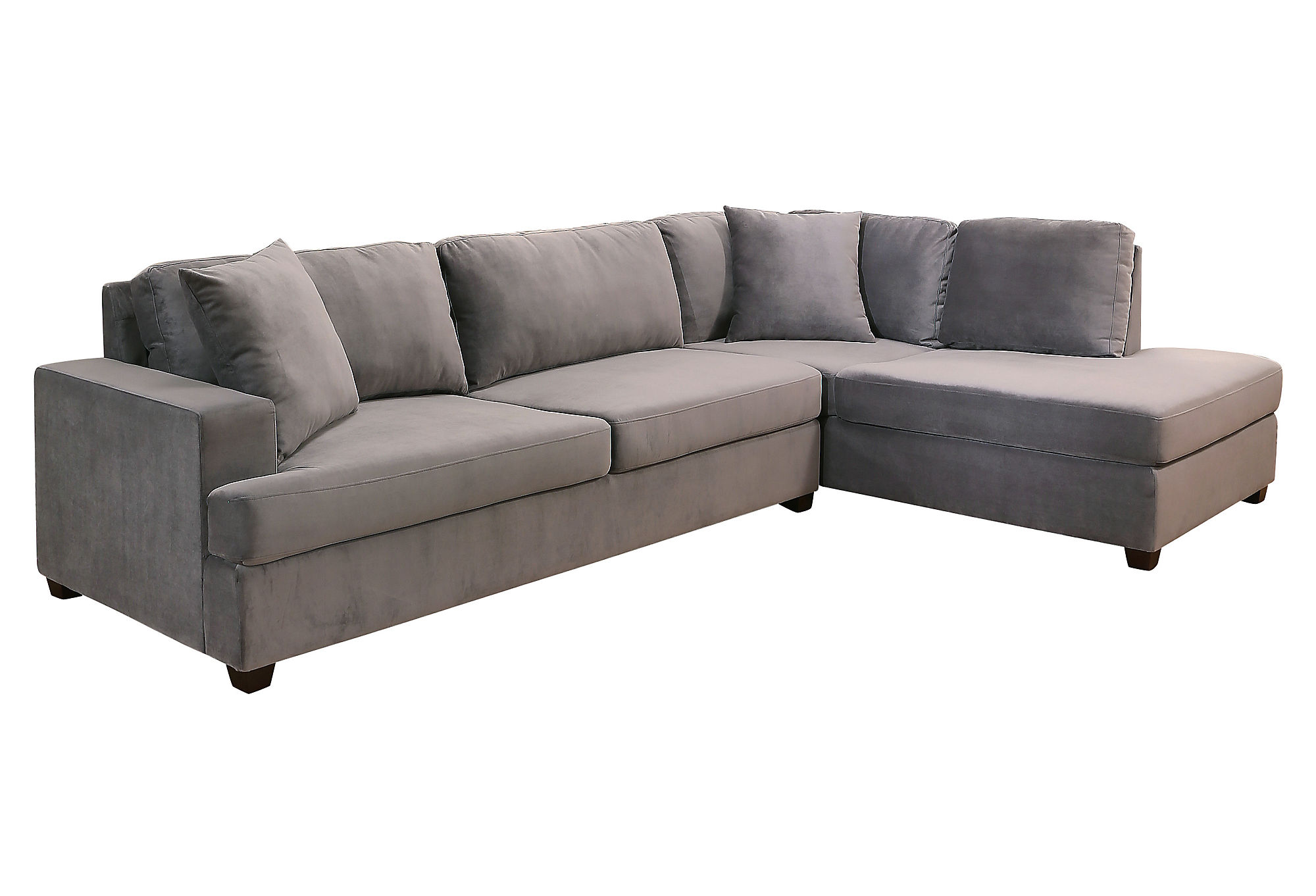 Lucca Sectional Luxe Greige Leather Made In The Usa by e
