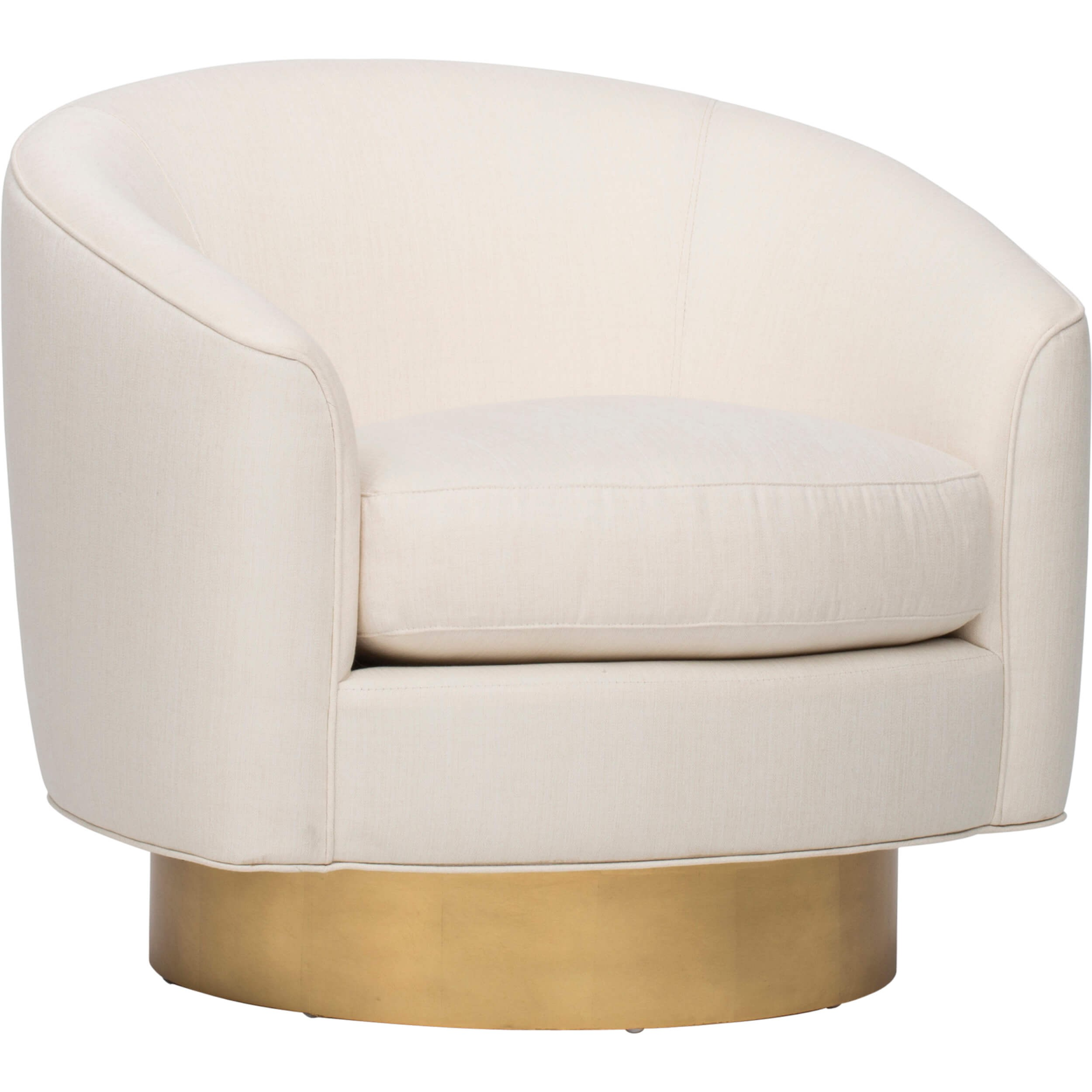Camino Swivel Chair Ivory by High Fashion Home
