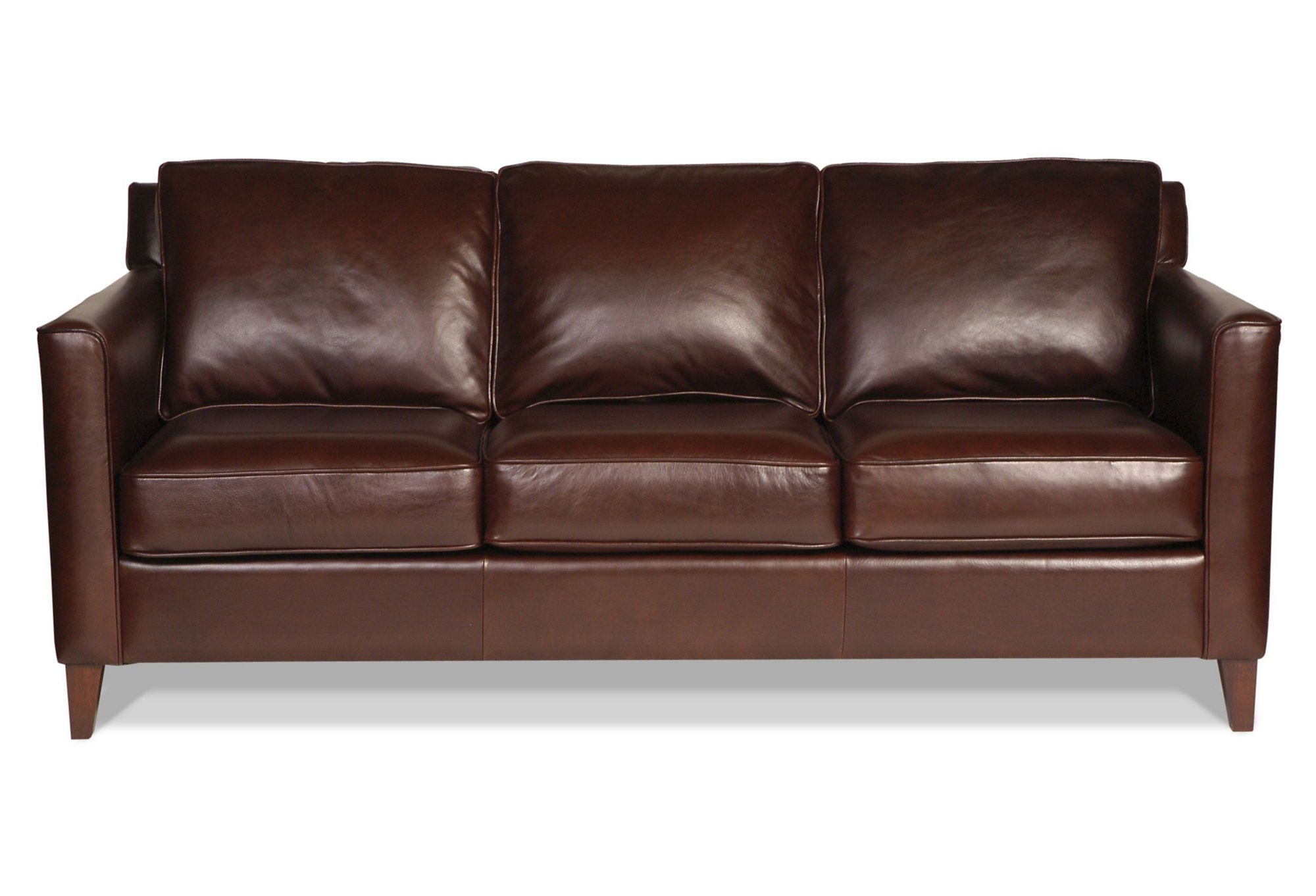 Square Arm Bonded Leather Sofa Threshold™ Chocolate by