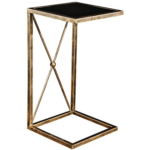 Uttermost Zafina Antique Side Table Gold