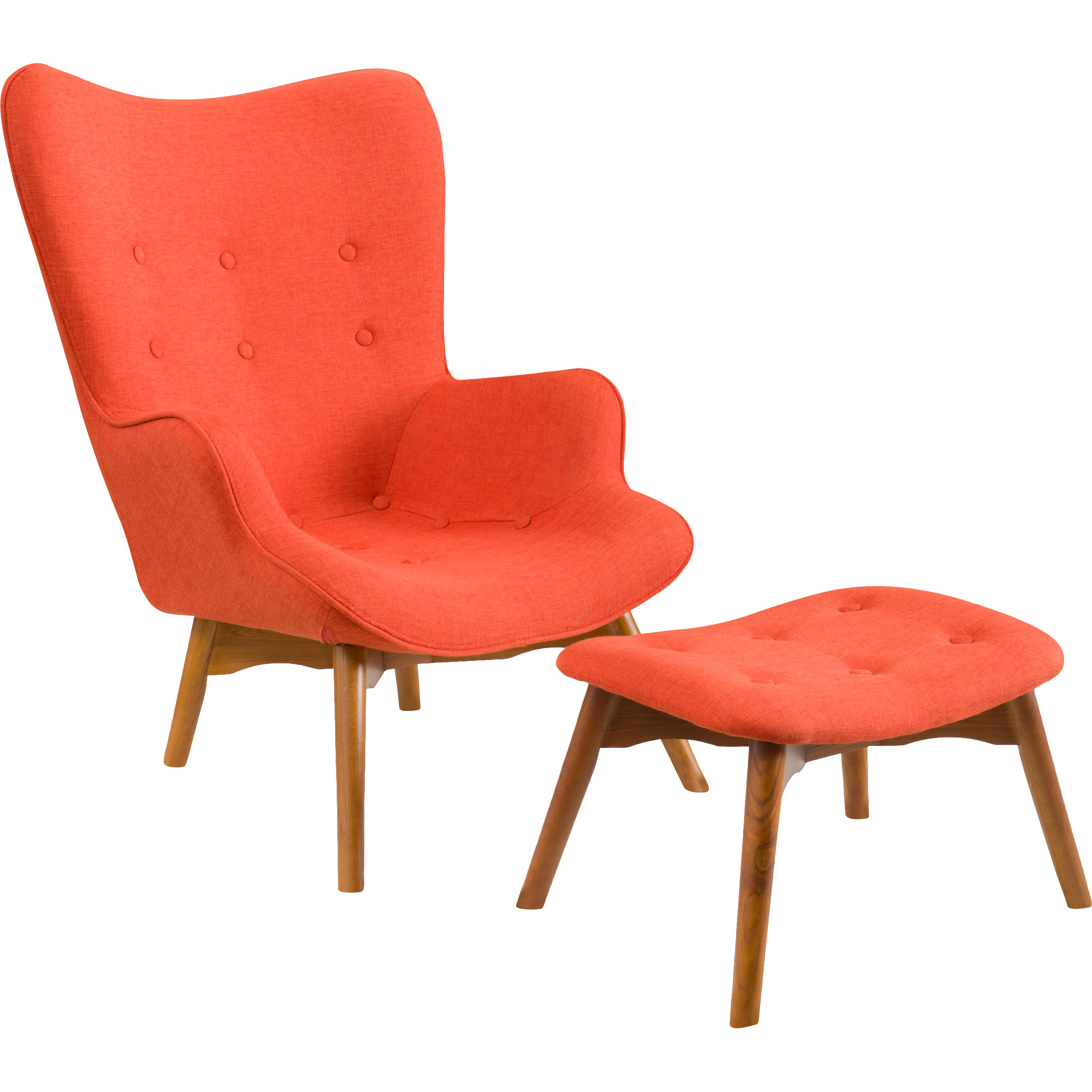 Orange And White Accent Chairs Moe S Home Moro Club