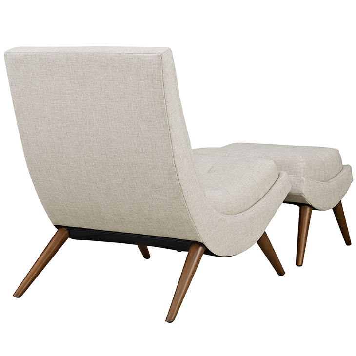 RAMP FABRIC LOUNGE CHAIR SET IN SAND