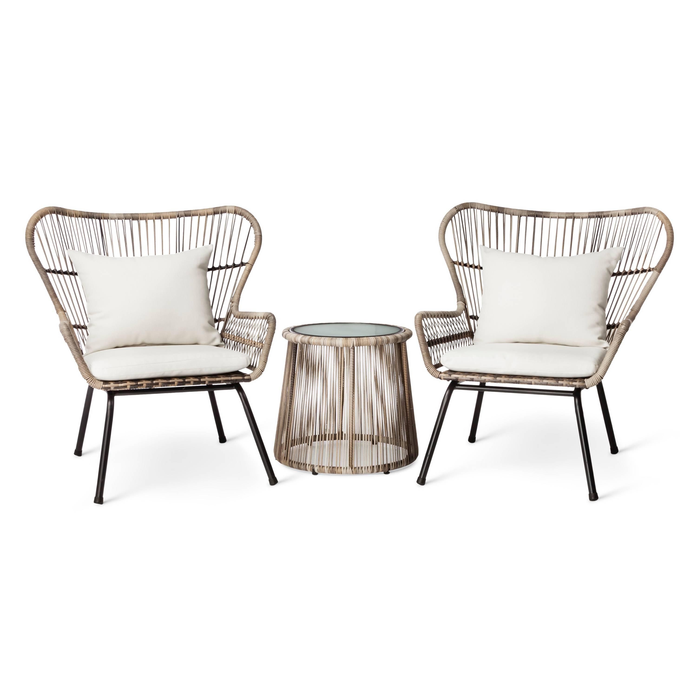 Best Furniture Set At Target: Latigo 3-pc. Rattan Patio Chat Set