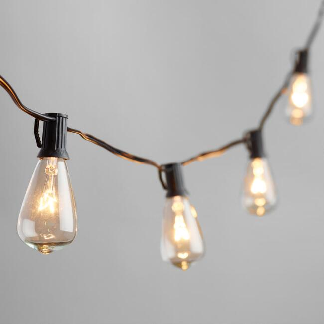 Edison-style String Lights 10 Bulb String... by World Market/Cost Plus Havenly