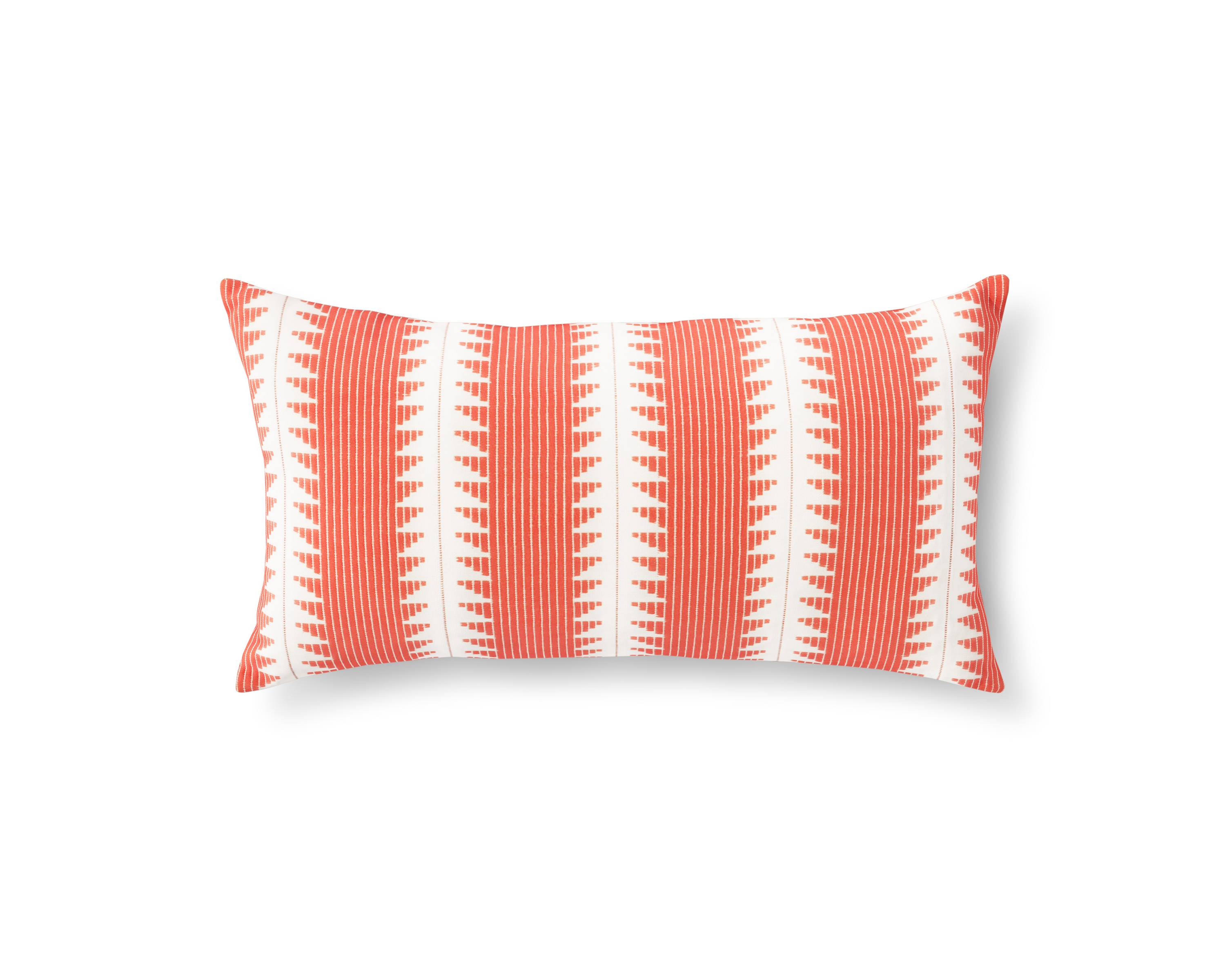 orange global stripe oversized oblong throw pillow