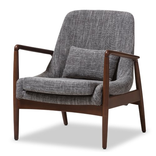 Ellen Mid-Century Modern Upholstered Leisure Arm Chair