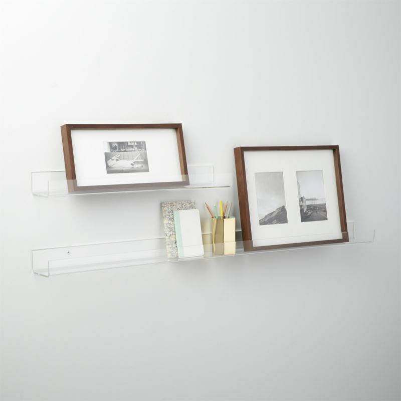 """Acrylic wall shelf 48"""""""
