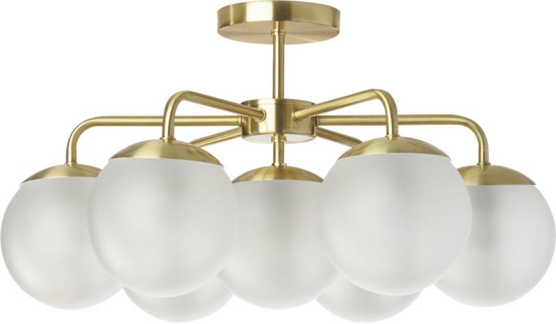 vega brushed brass flush mount lamp