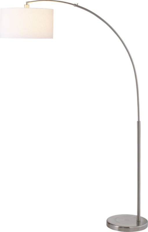 big dipper arc brushed-nickel floor lamp