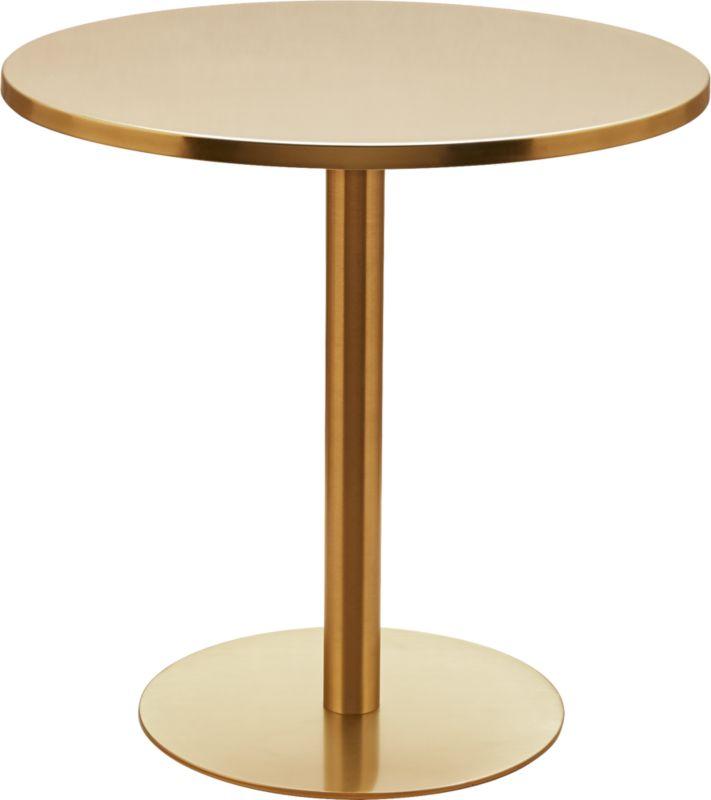 watermark brass bistro table