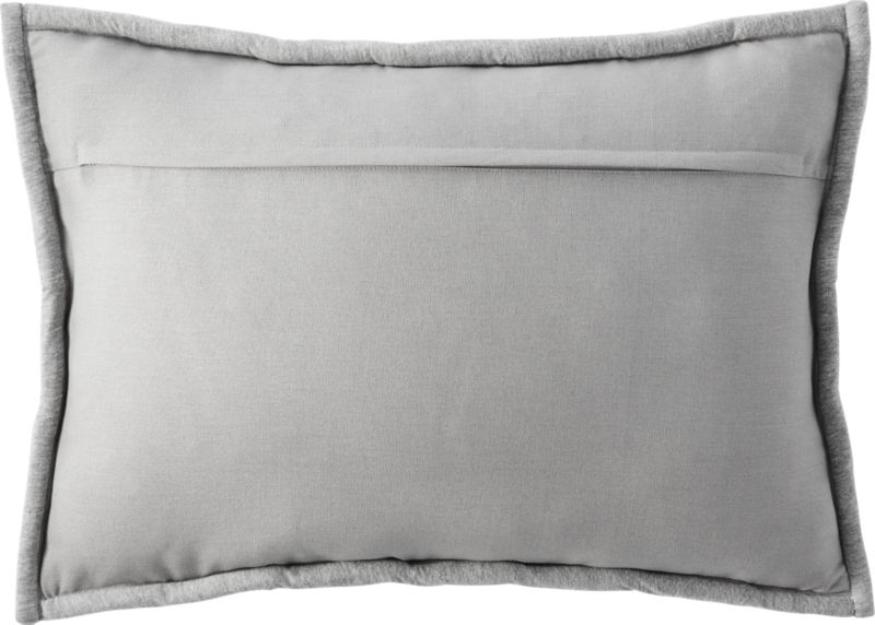 "18""""x12"" jersey interknit grey pillow with feather-down insert"