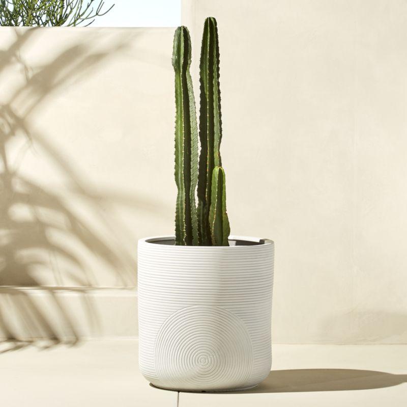 zen large white planter