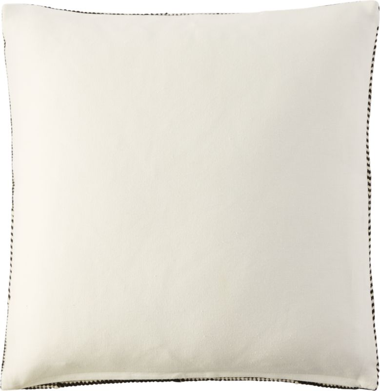 """""""23"""""""" bias pillow with feather-down insert"""""""